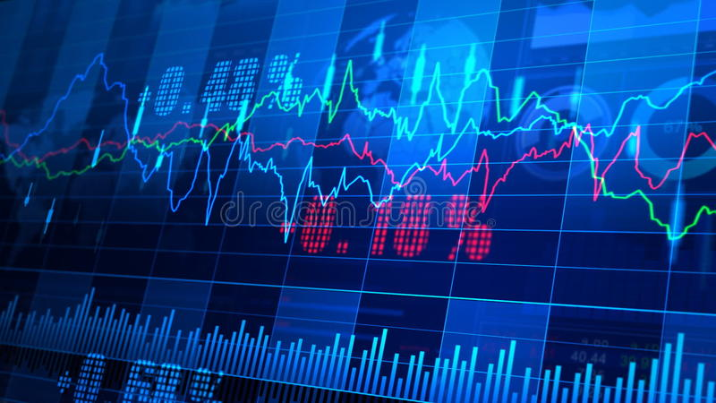 Stock Market _064. Stock market trend of animation stock video