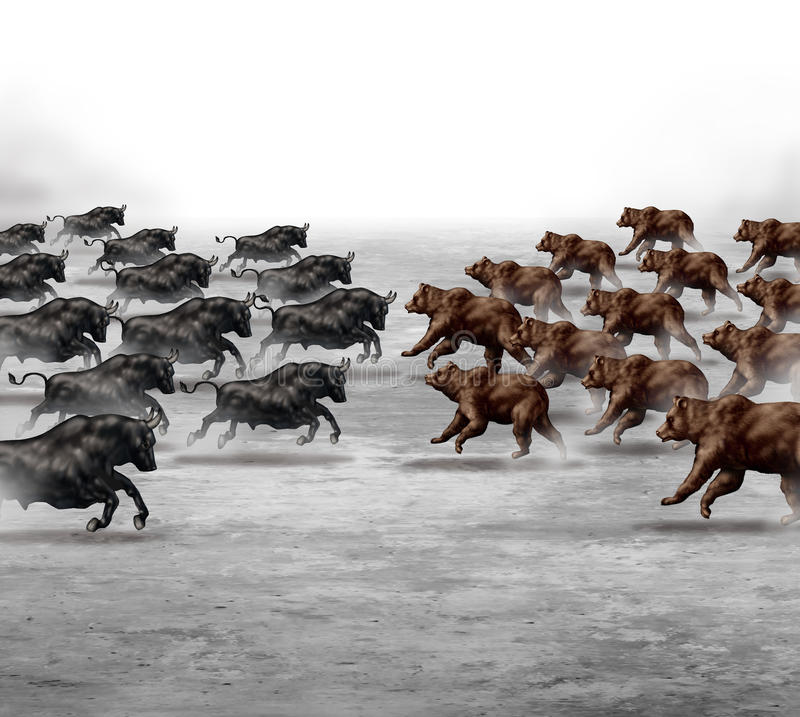Stock Market Trend royalty free illustration