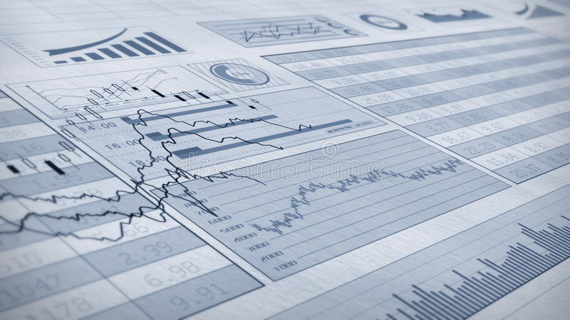 Stock Market. The Video of Stock market trend animation.Infinite loop video stock video