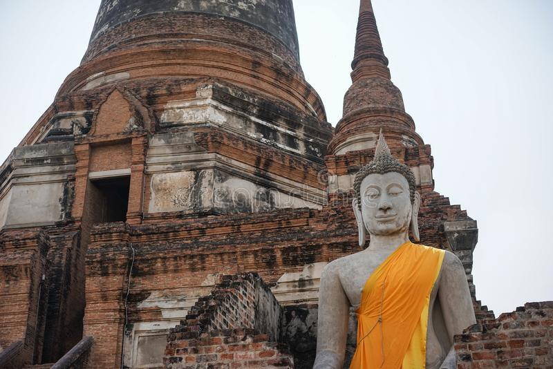 Stock Photo - Buddha Statue in Tample. Stock Photo - Buddha Statue in The Old Tample stock images