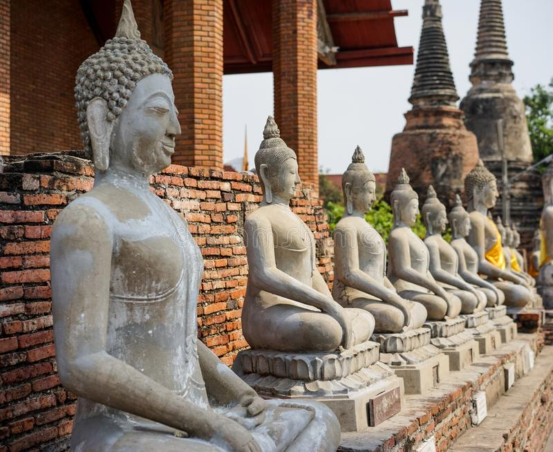 Stock Photo - Buddha Statue in Tample. Stock Photo - Buddha Statue in The Old Tample royalty free stock photography