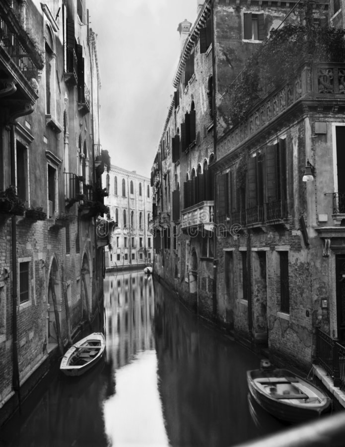 Stock Photo of Canal in Venice royalty free stock image