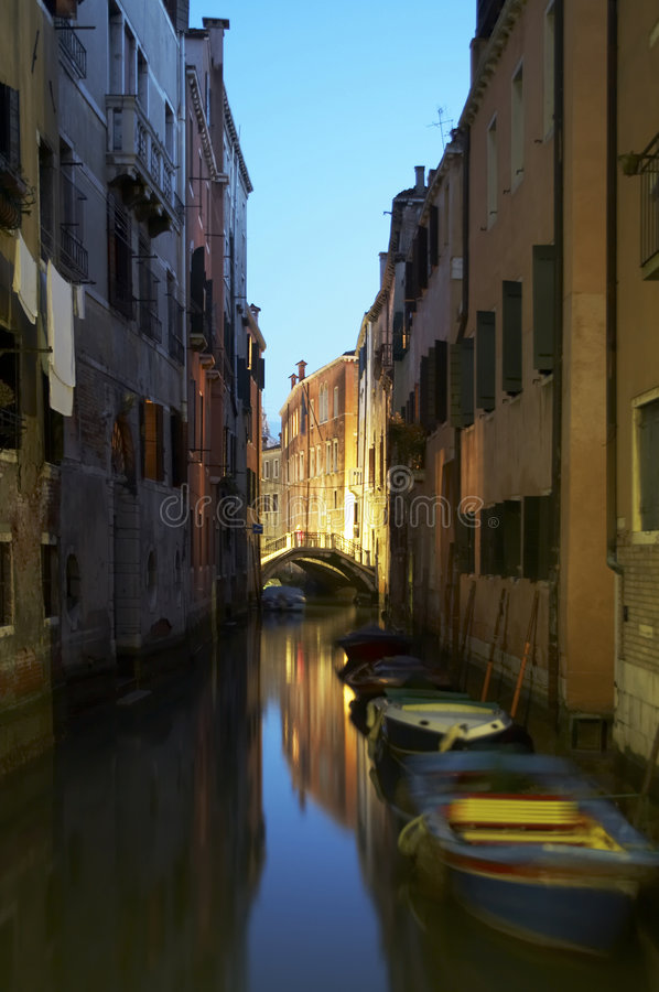 Stock Photo of Canal in Venice royalty free stock photography