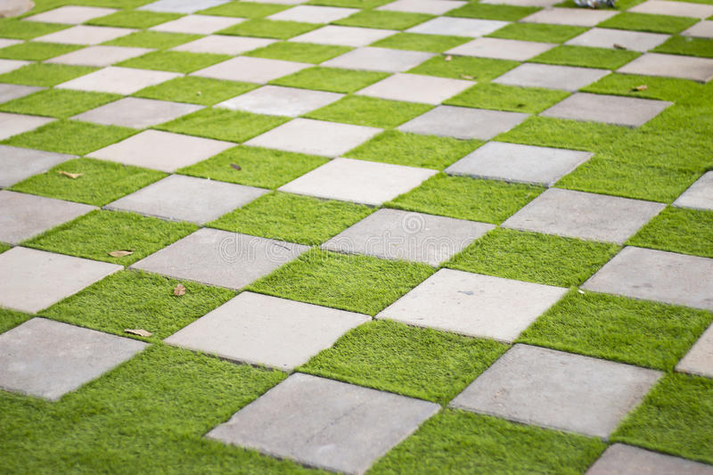 Stock Photo Checkerboard Background Of Green Grass