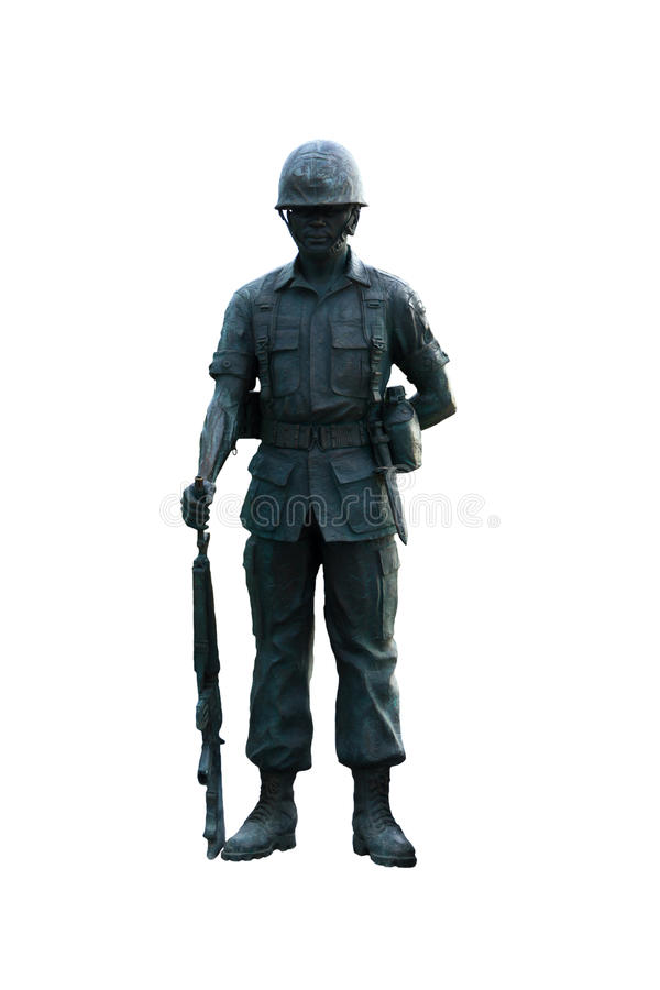 Stock Photo - cut out statue of soldier, can be used on any military theme stock photography