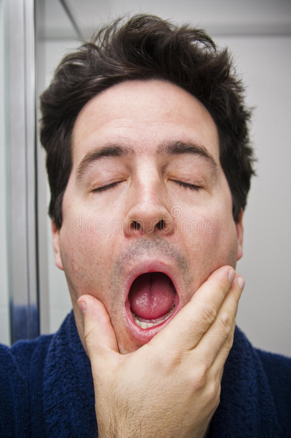 Download Yawning in the morning stock image. Image of messy, dressing - 29818561