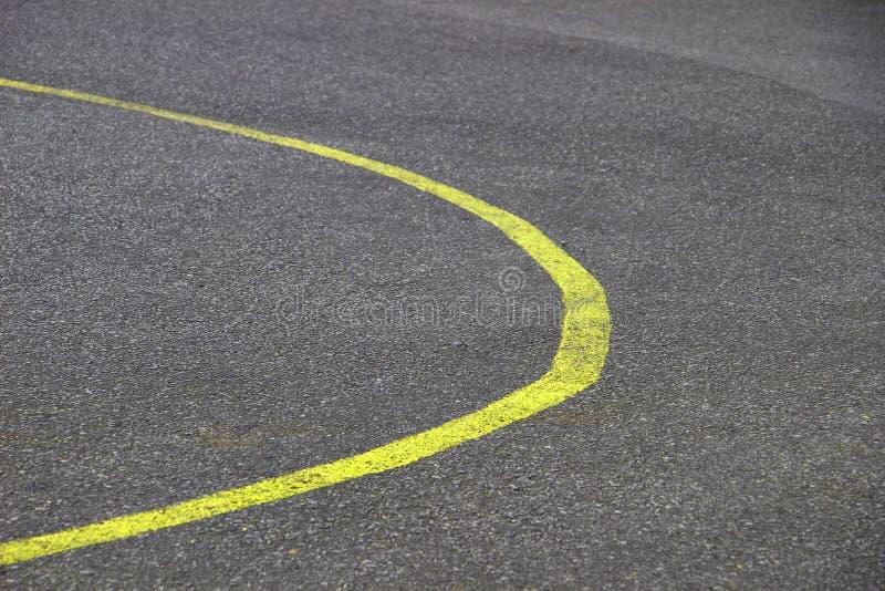 Stock Photo - new curve road yellow line stock photo