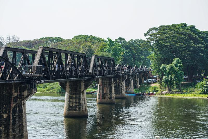 Stock Photo - River Kwai bridge Kanchanaburi, Thailand. Stock Photo - River Kwai bridge at Kanchanaburi Thailand stock photography