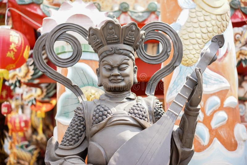 Stock Photo - Statue in Tample. Detail stock photo