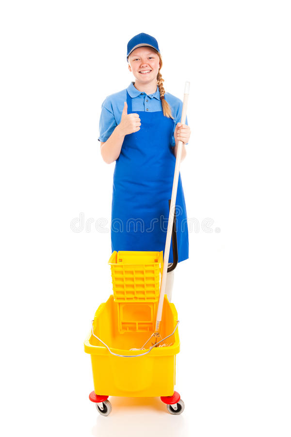 Stock Photo Of Teen Worker With Positive Attitude Stock Photo