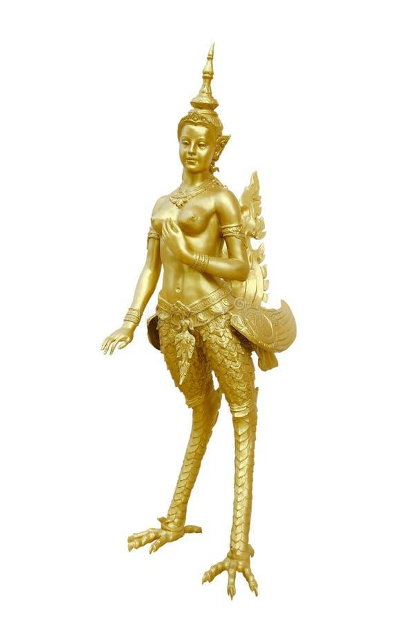 Free Stock Photo:Thai Art Kinnaree Statue : The Mythical Half Bird H Royalty Free Stock Photography - 72860907