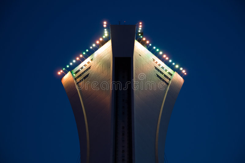 Stock Photo of the Top of the Montreal Olympic Stadium royalty free stock photos