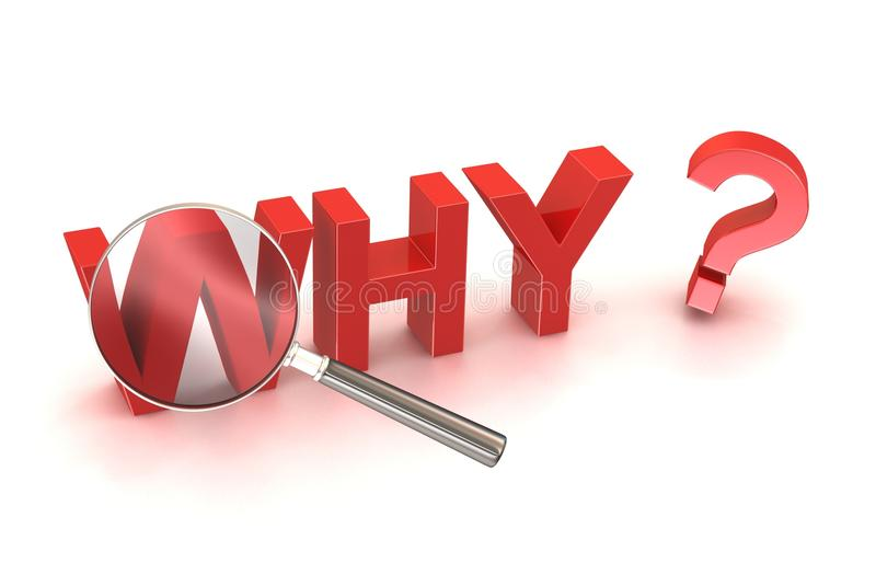 Stock Photo: why reason cause source search button royalty free illustration