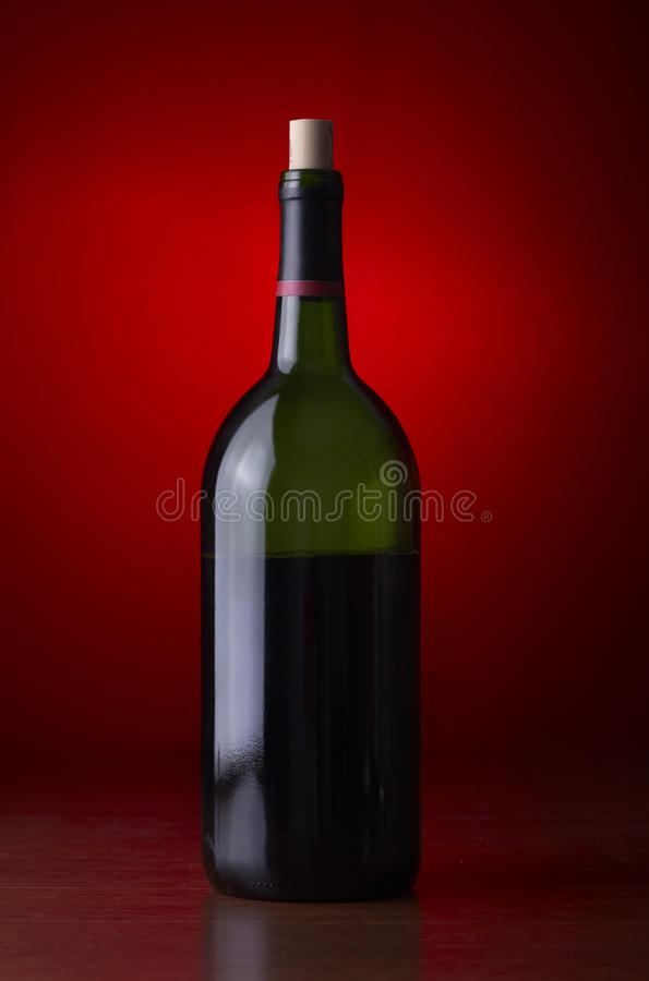 Stock photo of a wine bottle. Closeup of a wine bottle stock photography