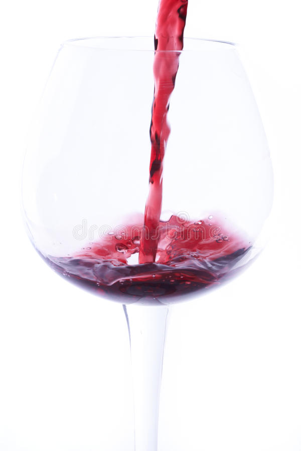 Download Stock Photo Of Wine Poured Into A Glass Stock Image - Image: 12628619