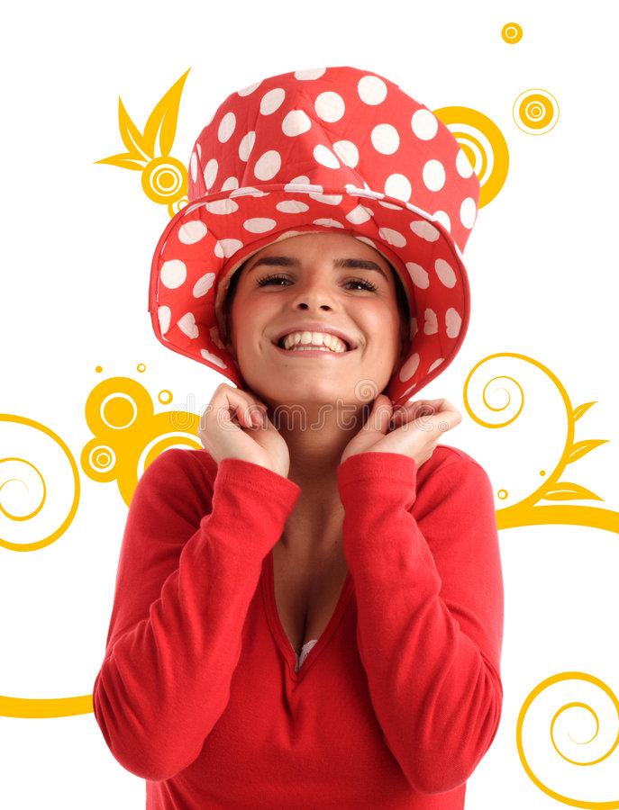 Stock photo of a young pretty woman royalty free stock photo