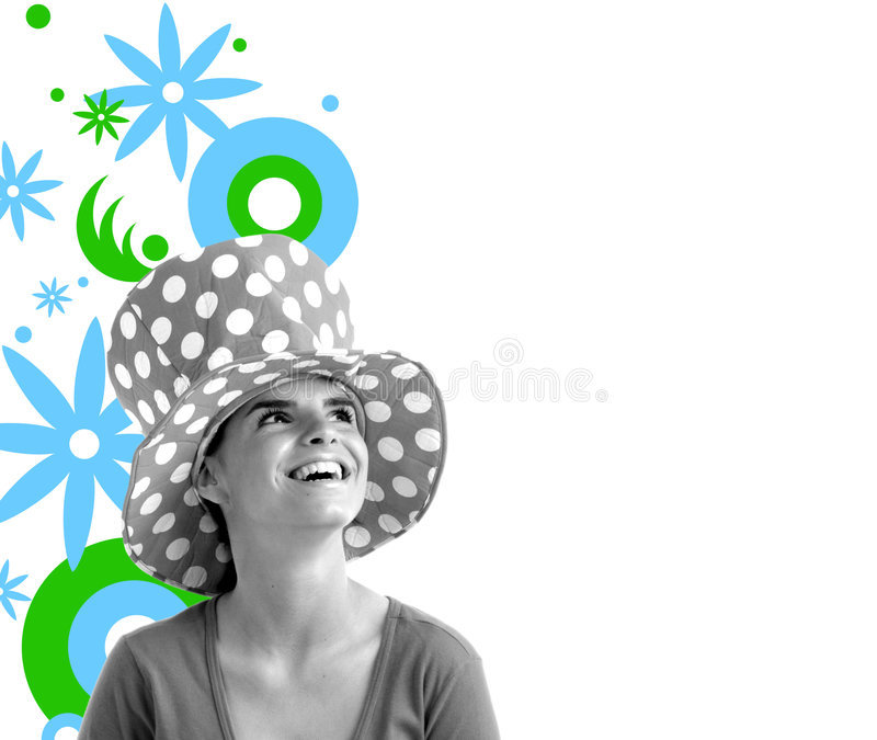 Download Stock Photo Of A Young Pretty Woman Stock Illustration - Image: 726154