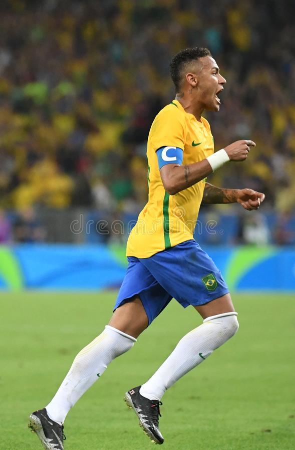 Neymar  Brazilian national football. Stock Photos of the Brazilian national football team Neymar stock photography