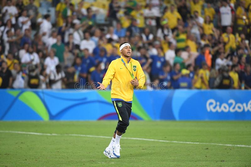 Neymar  Brazilian national football. Stock Photos of the Brazilian national football team Neymar royalty free stock images