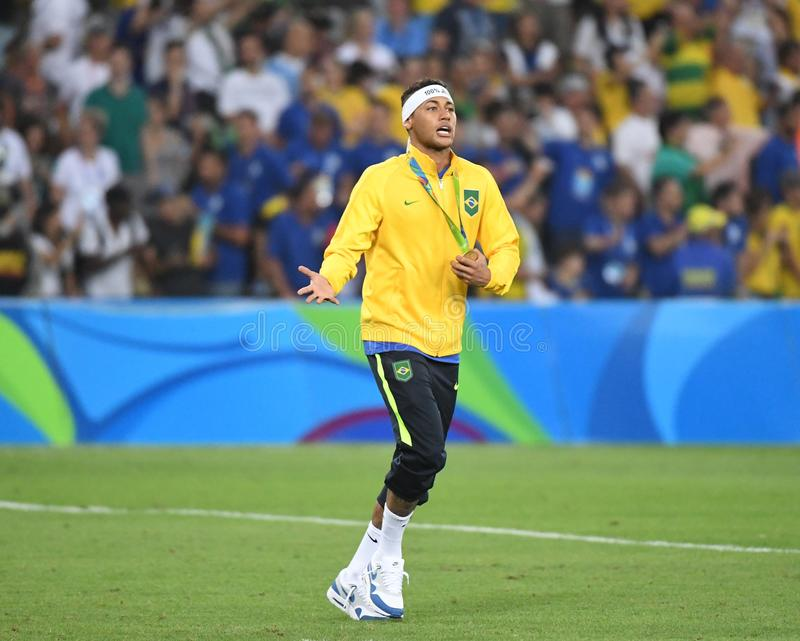 Neymar  Brazilian national football. Stock Photos of the Brazilian national football team Neymar royalty free stock photography