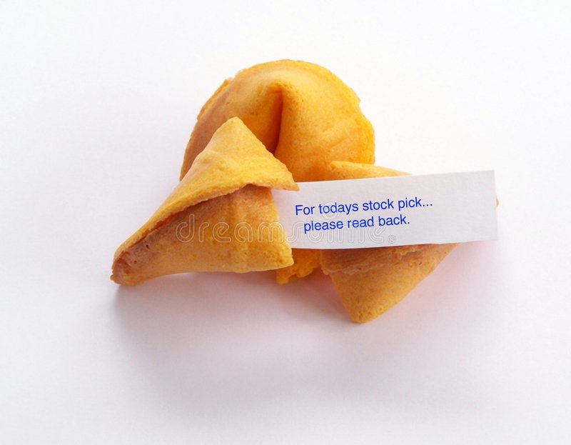 Stock pick fortune cookie. royalty free stock photos