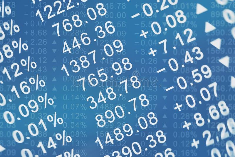 Stock price chart stock photos
