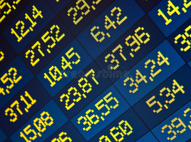 Download Stock Quotes At Real Time At The Stock Exchange Stock Illustration - Image: 13674766