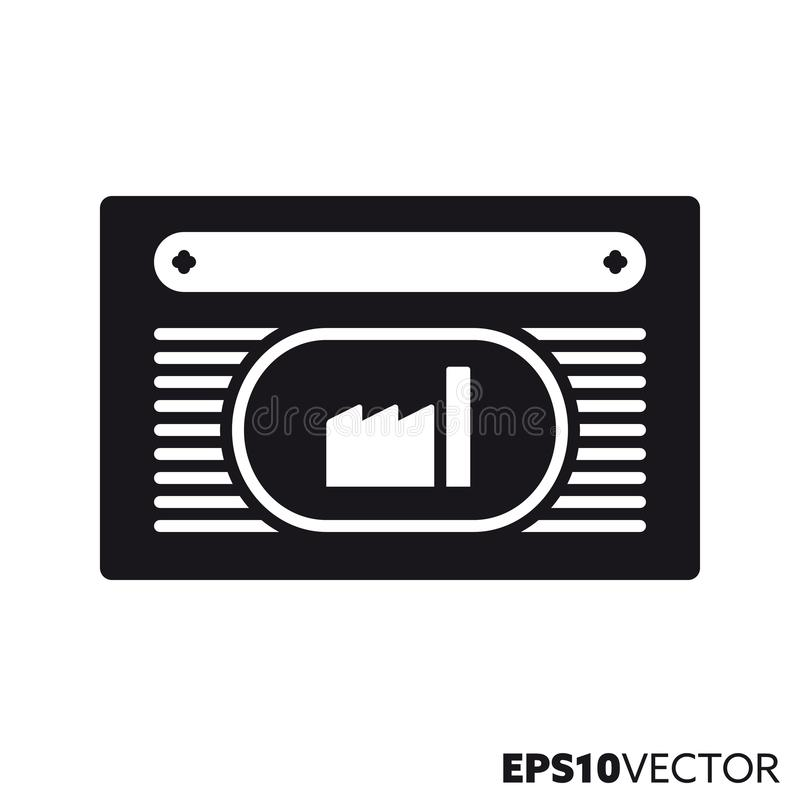 Stock share vector glyph icon stock illustration