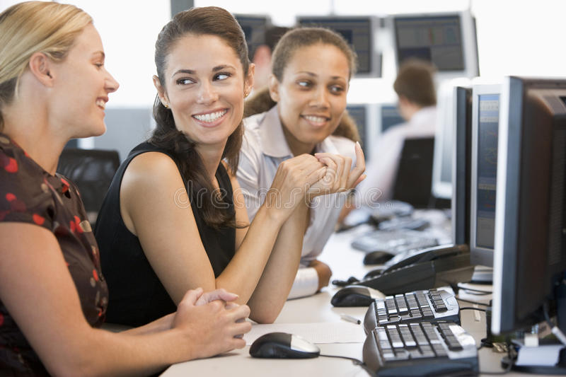 Download Stock Trader Team At Work stock photo. Image of businesswomen - 10400220