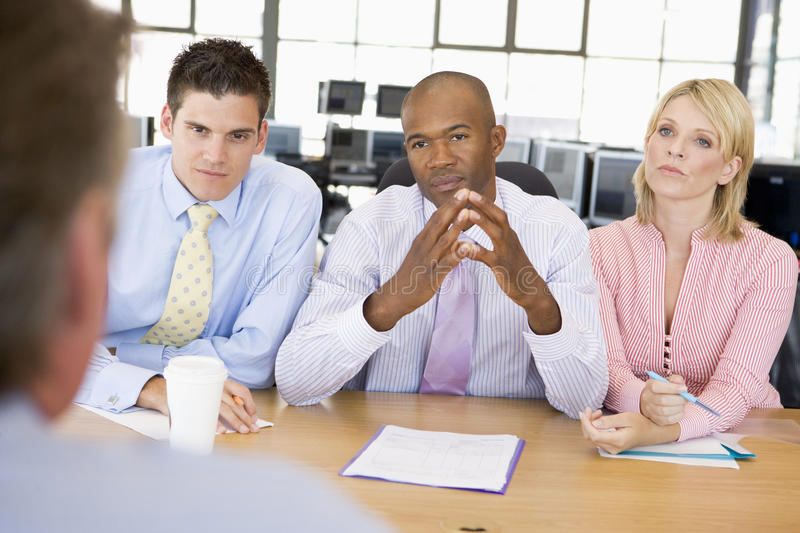Download Stock Traders Conducting Interview Stock Photo - Image of panel, four: 10400286