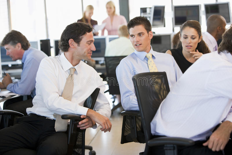 Stock Traders In Conversation stock images