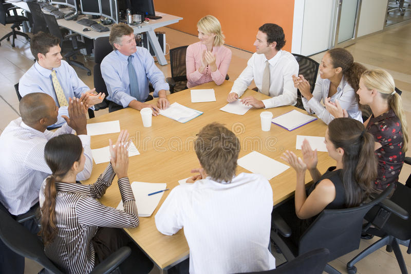 Download Stock Traders In A Meeting stock image. Image of table - 10400279