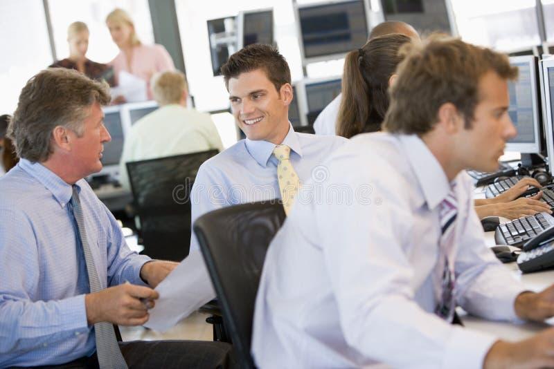 Stock Traders At Work royalty free stock photos