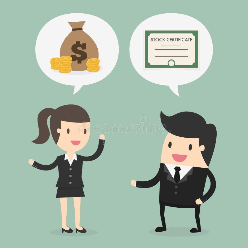 Stock trading. Business concept cartoon illustration stock illustration