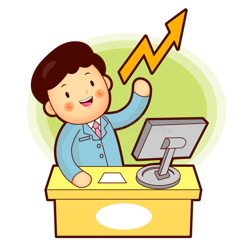 Download Stock Trading Is A Business Man Stock Illustration - Illustration: 26846895