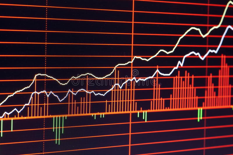 Stock trading chart stock photography