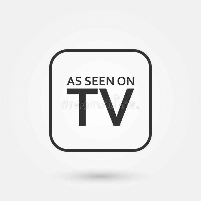 Stock vector as seen on tv 1. Stock vector as seen on tv isolated on white background and available PNG vector illustration