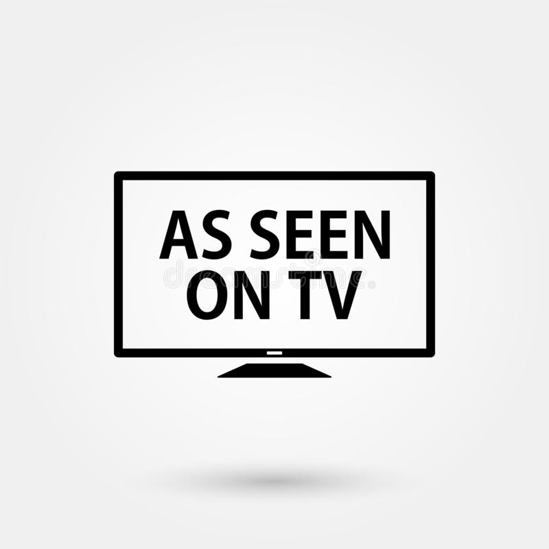 Stock vector as seen on tv 3. Stock vector as seen on tv isolated on white background and available PNG vector illustration