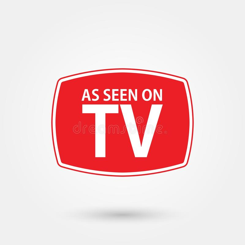 Stock vector as seen on tv 5. Stock vector as seen on tv isolated on white background and available PNG stock illustration