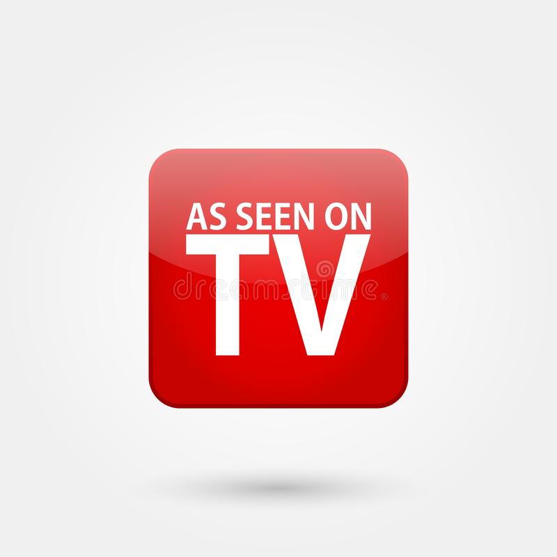 Stock vector as seen on tv 2. Stock vector as seen on tv isolated on white background and available PNG royalty free illustration