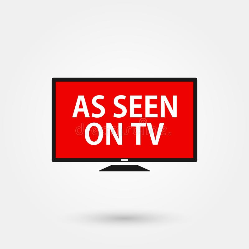 Stock vector as seen on tv 4. Stock vector as seen on tv isolated on white background and available PNG stock illustration