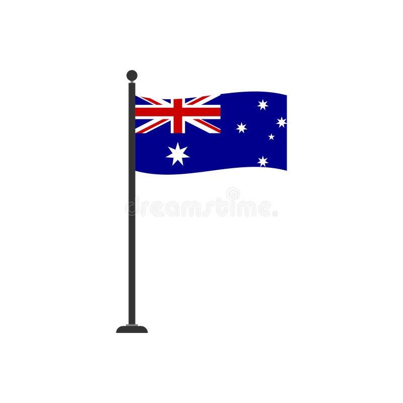 Stock vector australia flag icon 4 vector illustration