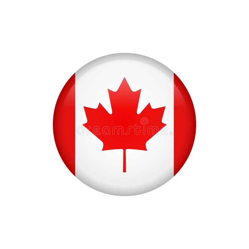 Stock vector canada flag icon 5 royalty free illustration