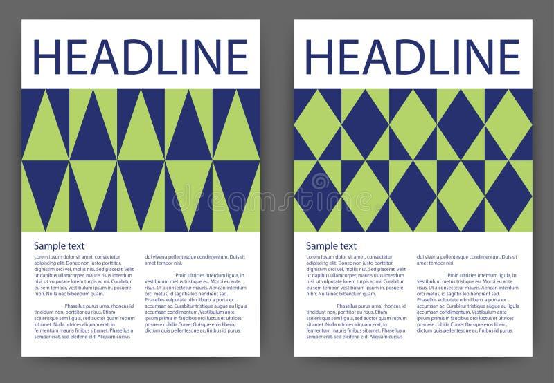 Stock Vector Design template brochure.  stock illustration