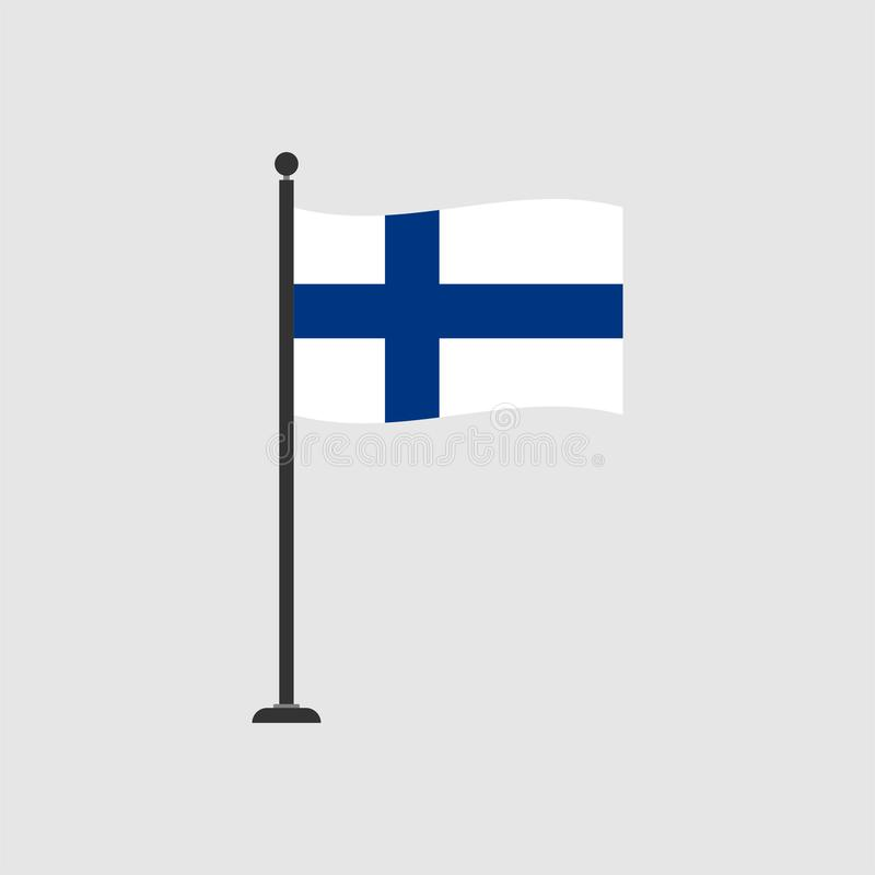 Stock vector finland flag icon 4 royalty free illustration
