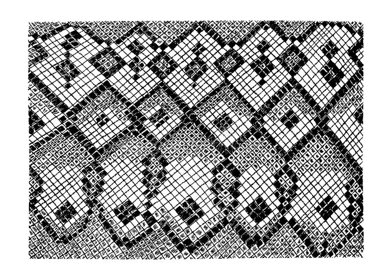 Stock vector hand drawn abstract Snake skin imitation. Stock vector hand drawn abstract animal skin imitation print pattern. Snake skin vector illustration