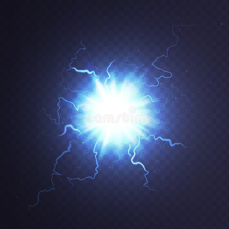 Stock vector illustration ball lightning a transparent background. Abstract plasma sphere. Electric discharge. EPS 10. Stock vector illustration ball lightning a stock illustration