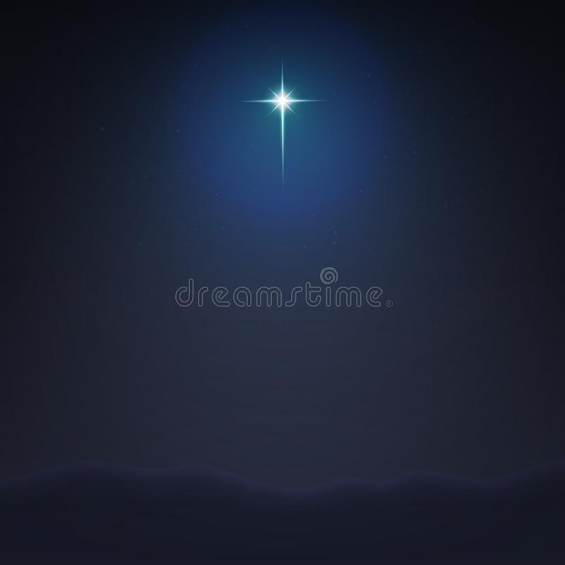 Stock vector illustration Bethlehem Star minimalistic background. The Birth of Jesus Christ EPS 10 stock illustration