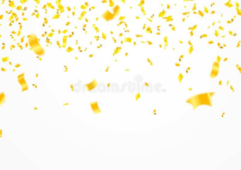 Stock vector illustration defocused gold confetti isolated on a stock illustration