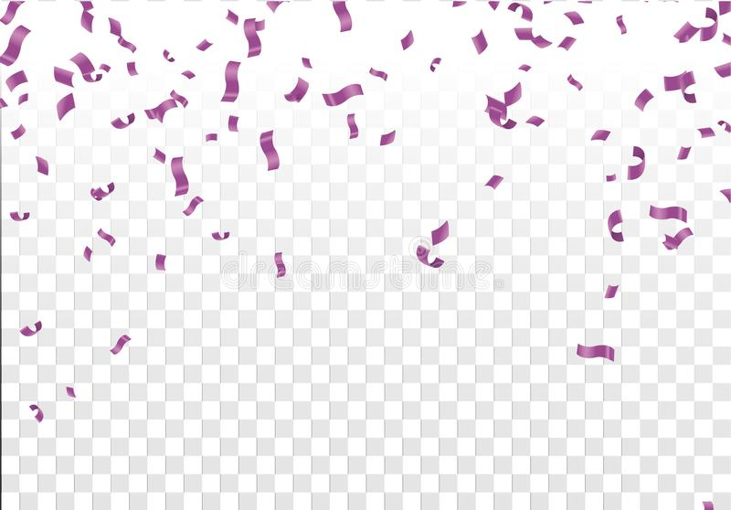 Stock vector illustration defocused Purple confetti isolated on vector illustration